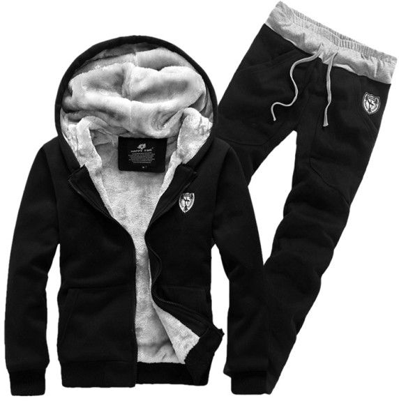 Fashion New Autumn&Winter Hoodies Sweatshirts With Pants,Outerwear Hoodies Clothing Men.Clothing Sets Sports Suit Men $38.88