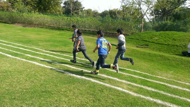 Relay race for Primary classes #GGIS #RepublicDay #SportsDay