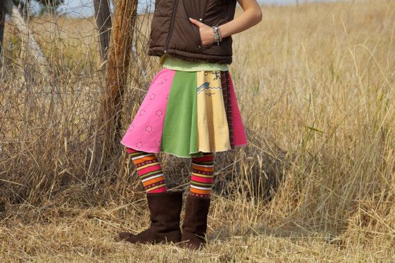 Easy serger pattern - skirt from t-shirts