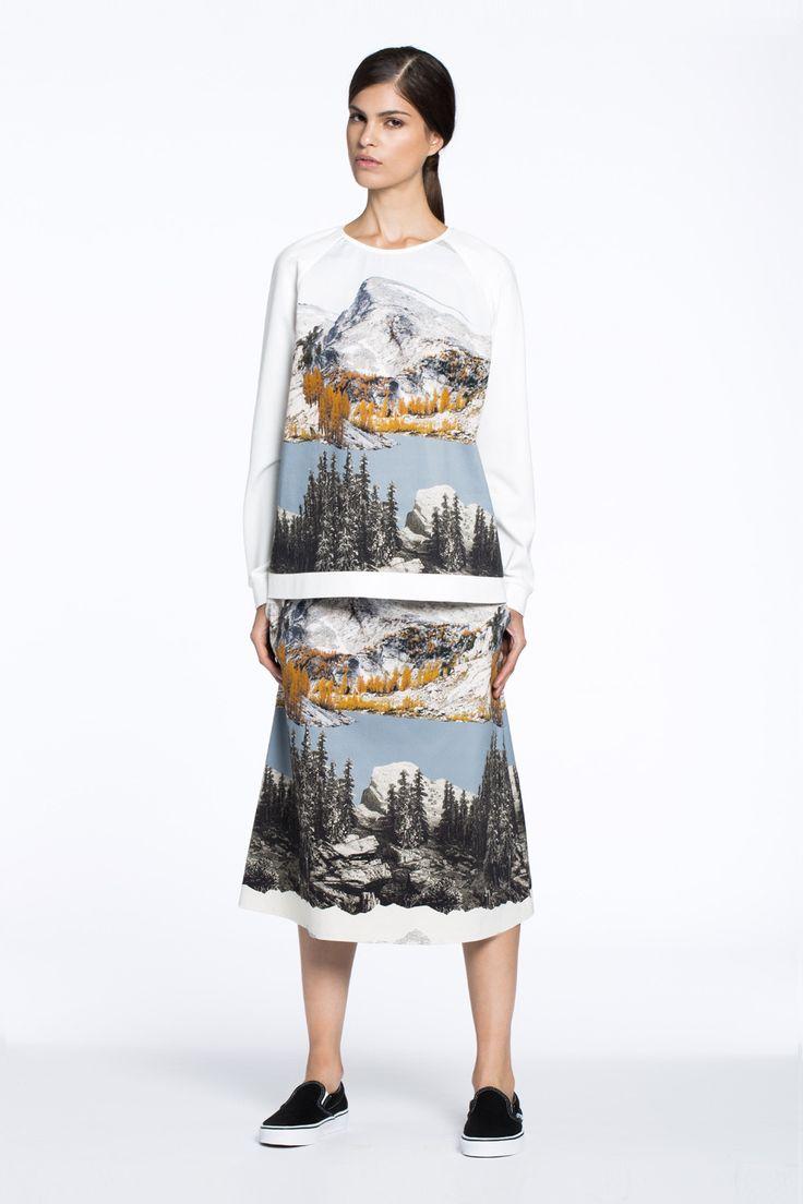 New England Sweater Washington Print $235.00 AUD + County A-Line Skirt Washington Print $279.00 AUD