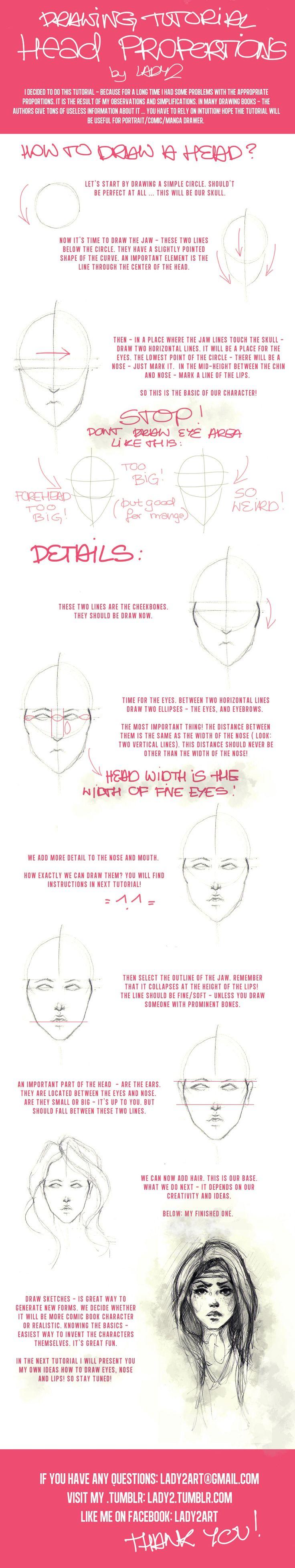 head_proportions_tutorial. by Lady2.deviantart.com on @deviantART