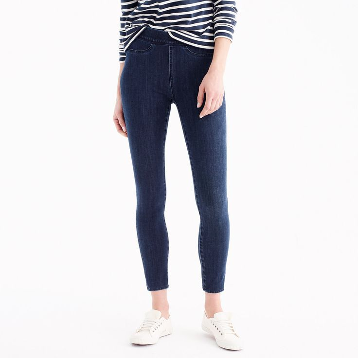 J.Crew Womens Pull-On Toothpick Jean In Indigo