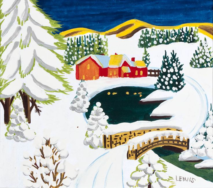 'Night Snow' by Maud Lewis at Mayberry Fine Art