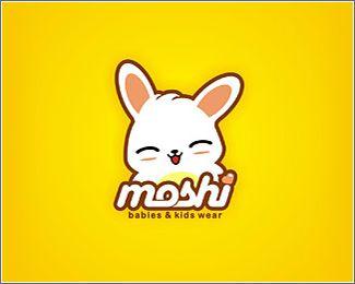 Kawaii logo design Moshi babies  kids wear