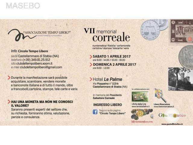VII Memorial Correale – 1/2 Aprile 2017 - Castellammare di Stabia – (Napoli)