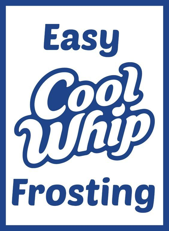 Easy Cool Whip Frosting