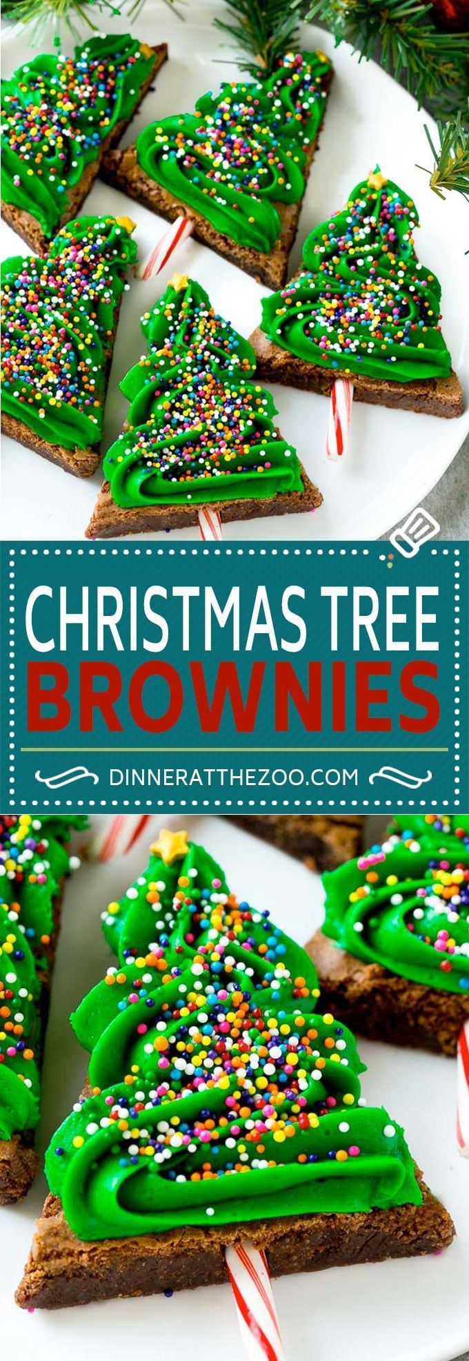 Christmas Tree Brownies #ad