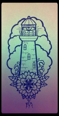 american traditional lighthouse tattoo | lighthouse tattoos | Tumblr