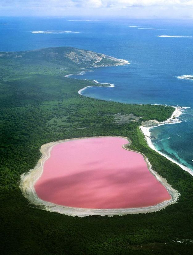 Les destinations les plus spectaculaires du monde - Lac Hillier Australie Occidentale