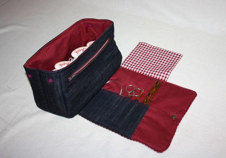 Utensilos & Stoffkörbchen – Wolltasche Handarbeitstasche Strickprojekttasche – …