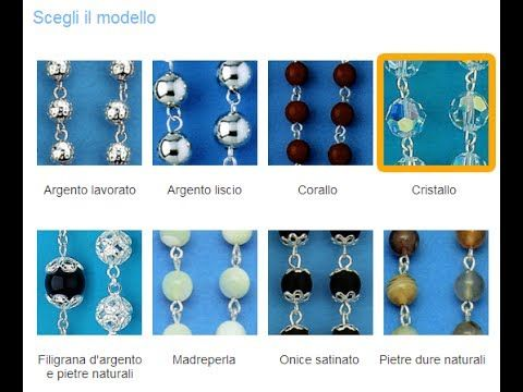 COLLEZIONE ARGENTO - Rosari in argento e cristallo  visita l'intera collezione su   http://www.ovunqueproteggimi.com/collezione-argento/rosari/cristallo/