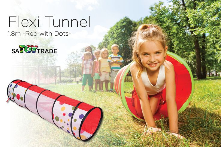 Children will love to chase their friends through the tunnel. Tunnels are ideal for indoor and outdoor use. Instant pop open design and they collapse down for easy storage. The interior has padding around the tunnel wire for safety and comfort. The tunnel has a sturdy spring steel construction for long lasting fun. The tunnel is supplied complete in its own carry bag. Flexi play tunnels are great for children's physical development and also encourage social play, while they are having fun.