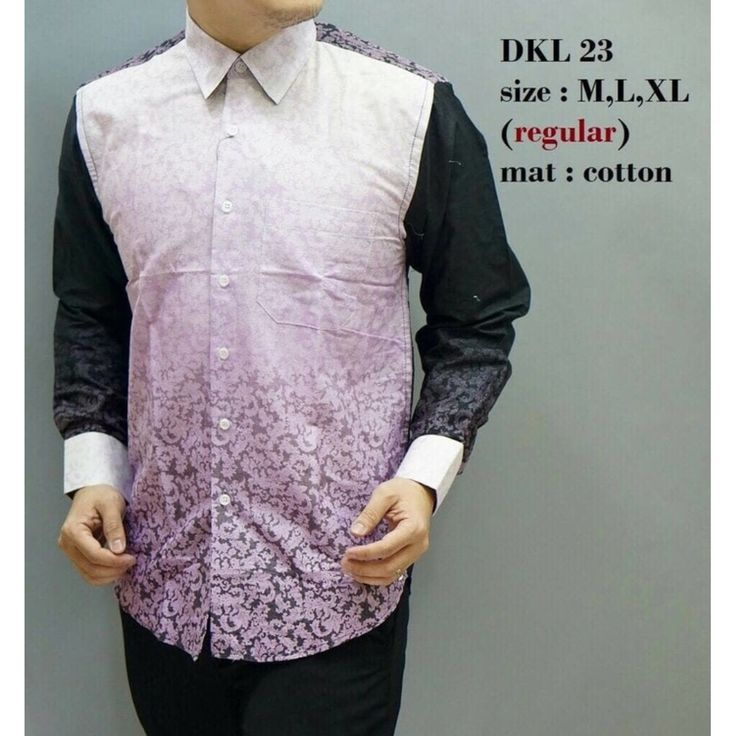 KEMEJA BATIK PRIA REGULER LENGAN PANJANG DKL23, Preloved Fesyen Pria, Pakaian di Carousell