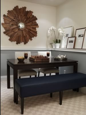chair rail in dining room darker color on top or bottom home decorating - Dining Room Color Ideas With Chair Rail