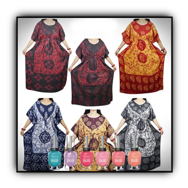 """""""Cotton Nightwear Kaftan Nightwear"""" by lavanyas-trendzs ❤ liked on Polyvore"""