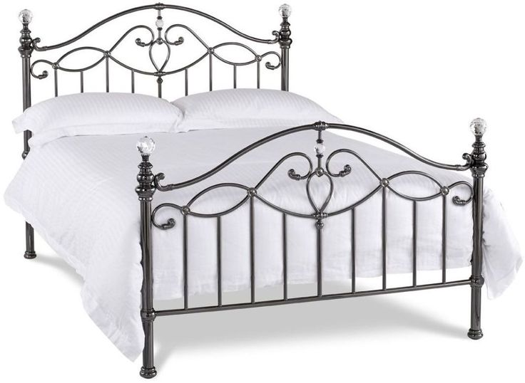 Bentley Designs Elena Black Nickel Metal Bedstead