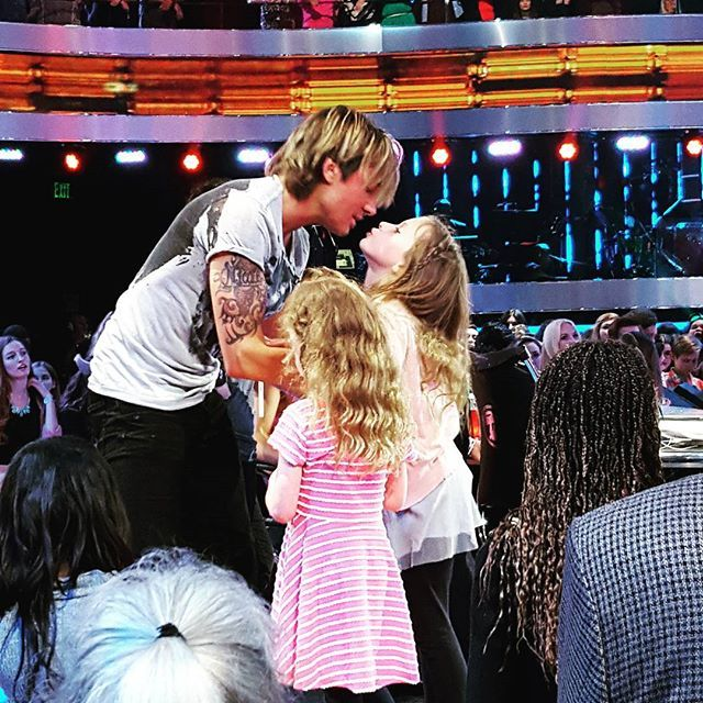 Keith & his daughters Sunday Rose & Faith. March 2016 https://www.fanprint.com/stores/sons-of-anarchy?ref=5750