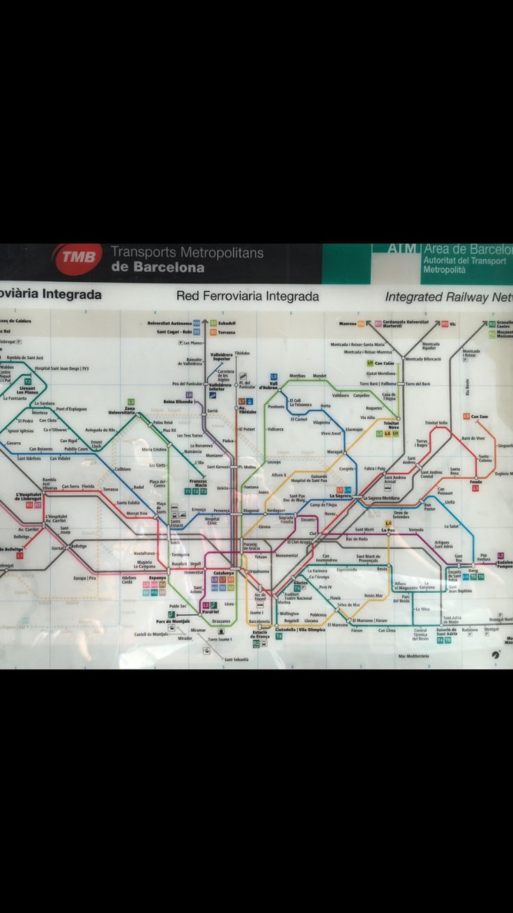 Barcelona 21 best Subway maps images on
