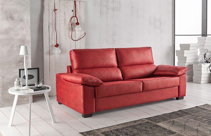 Sof cama leyre con sistema de apertura italiano con for Sofa cama modelo italiano precio