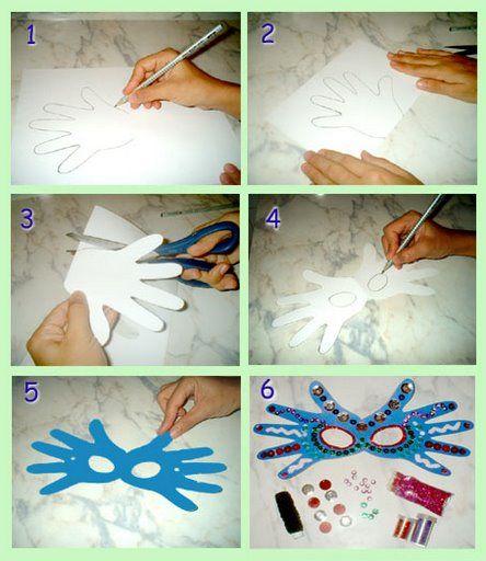 Masques carnaval avec les mains