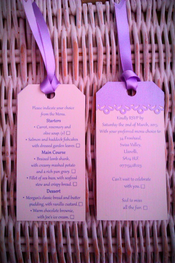 RSVP Wedding tags.