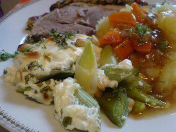 Rezept: Porree-Gemüse überbacken