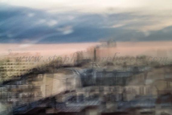 Tirage d'art vue de Paris par KaKtusArt sur Etsy