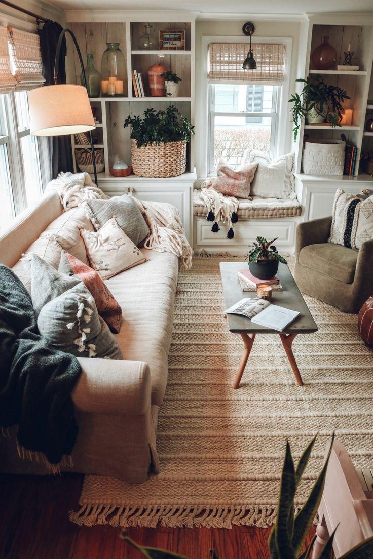 Neuer Teppich in unserem Wohnzimmer und schnurlose Bambusschirme