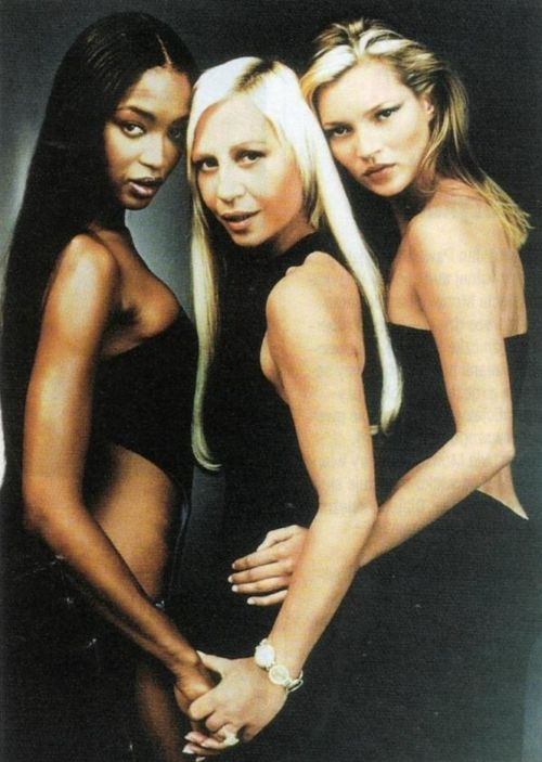 SUPERMODEL NAOMI CAMPBELL.   Donatella Versace + Naomi Campbell + Kate Moss = love
