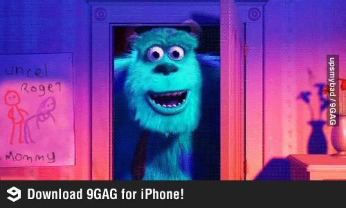 Did you notice?: Disney Movies, Kids Movies, Childhood Ruins, Funny Pics, Kids Stuff, Funny Pictures, Monsters Inc, Funny Stuff, Easter Eggs