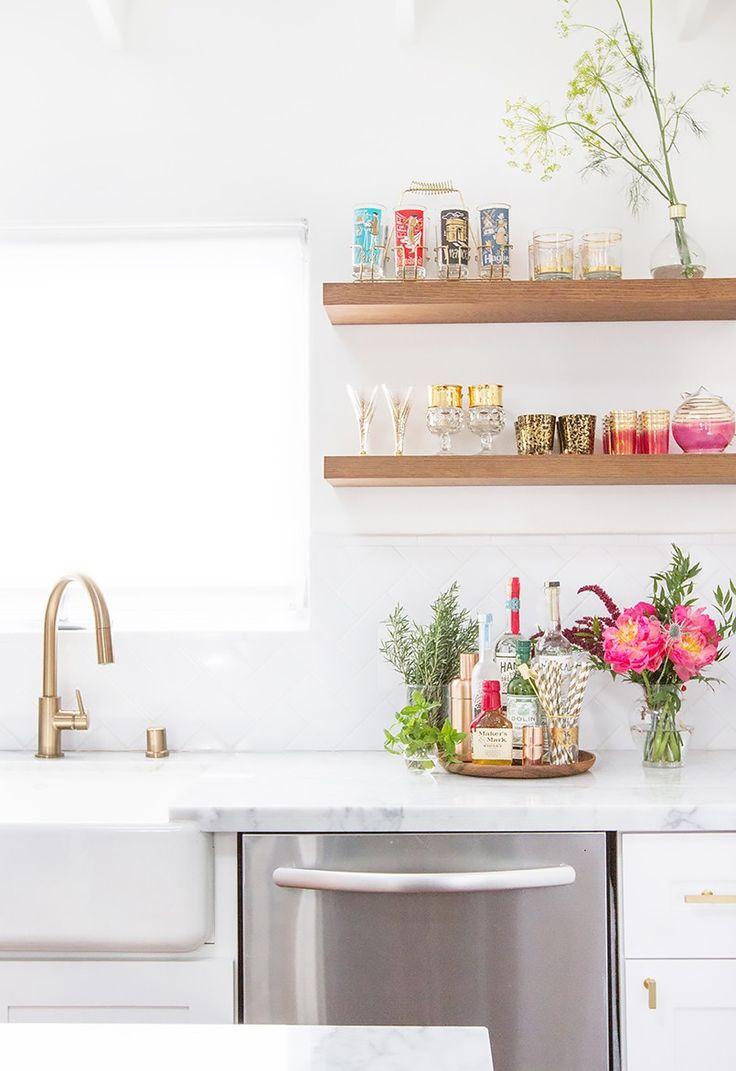 Tour a Wedding Blogger's Stunning Renovated Kitchen