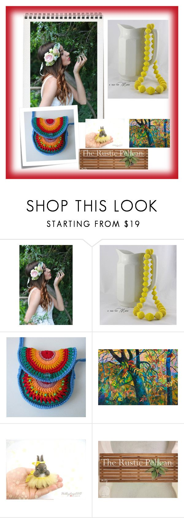 """""""Giornate di primavera"""" by acasaconmanu ❤ liked on Polyvore featuring Giallo, Dollhouse and Post-It"""
