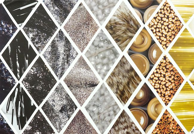 collage diamond pattern in neutral shades. - by Omiyage Blogs: Make: Magazine Collage Patterns