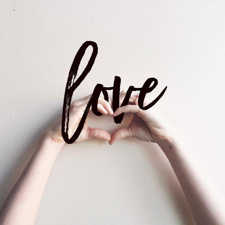 LOVE brush script lettering