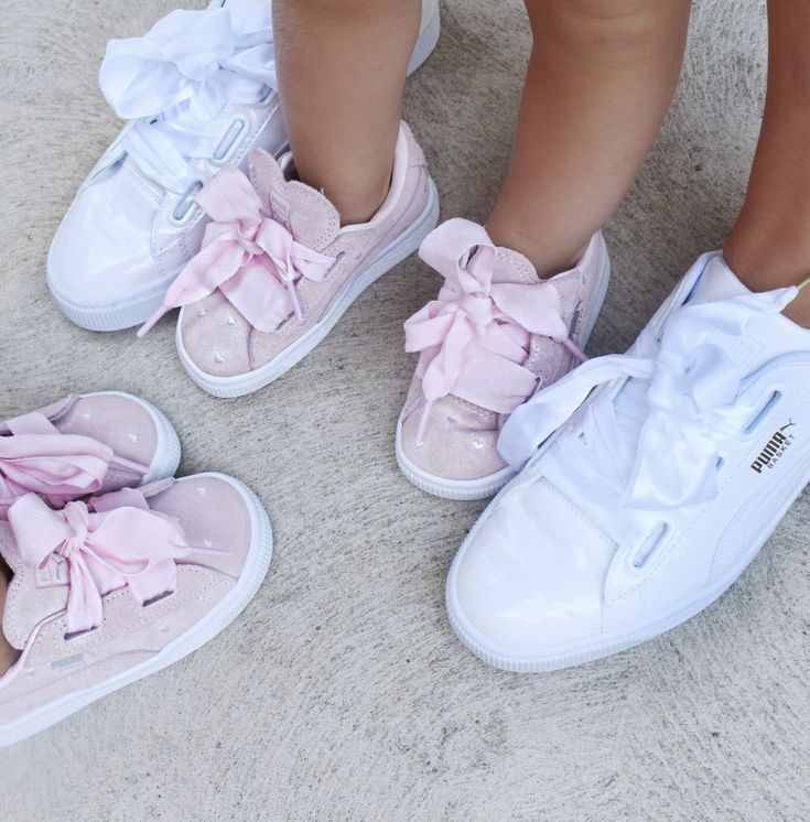 brand new 71a5c 694b8 Mummy and daughter matching Puma Basket Hearts. How cute are ...