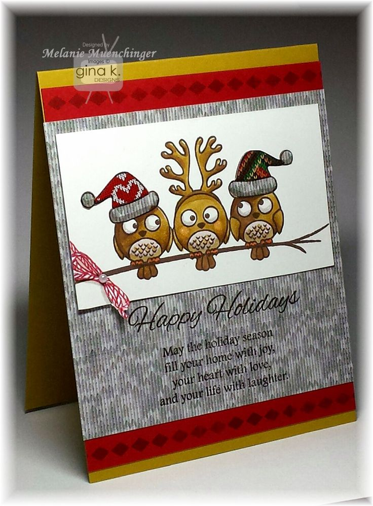 Card Making Ideas Gina K Part - 19: Design Uses Stamps And Supplies From Sparkling Christmas StampTV Kit From Gina  K. Card By Melanie Muenchinger. Twine And Diamond Border Stamps Are From  The ...