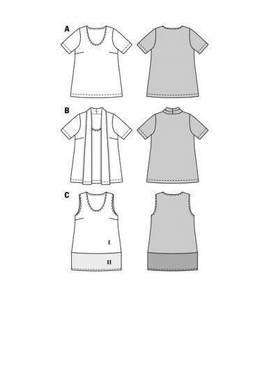 Burda 7098 - Grote maten, shirt