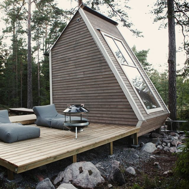 Dan and I have talked about building a little cabin somewhere, I think this size would be perfect
