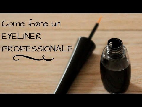 Come fare un EYELINER NATURALE PROFESSIONALE in 2 minuti! - YouTube