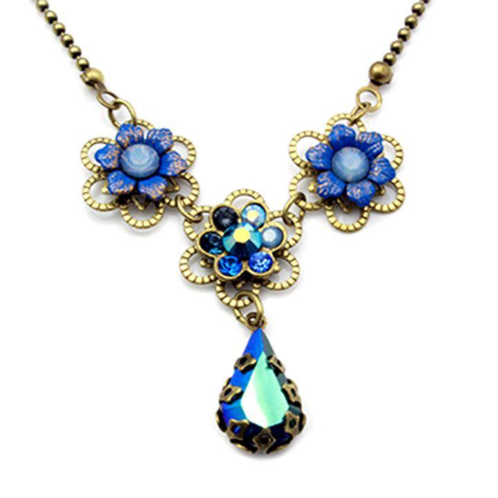 Sapphire Flower Petunia Ring