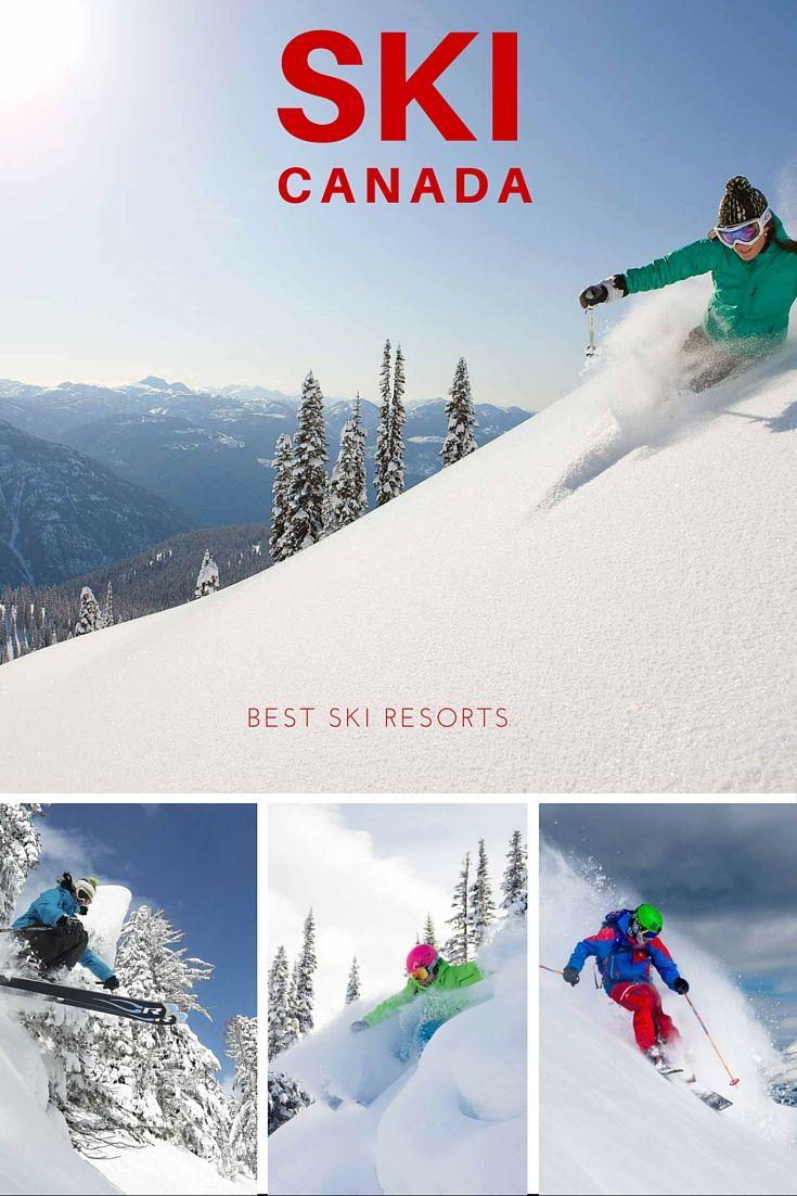 Where to go skiing in Canada #explorecanada