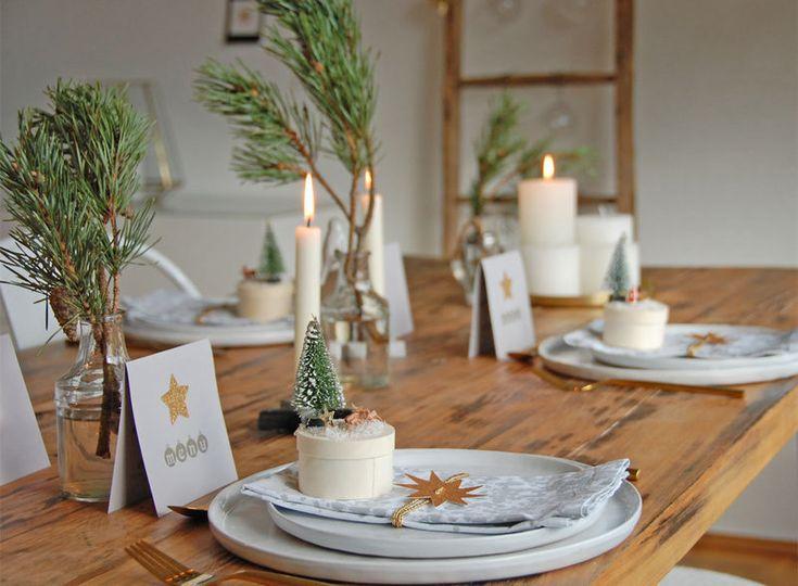 Wir zeigen die schönsten Dekoideen für deine Tischdeko an Weihnachten ❤ Lass dich von den besten Ideen aus echten Wohnungen inspirieren.