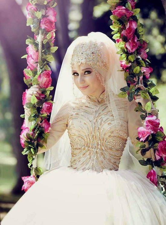 110 muslim wedding dresses with sleeves and hijab for Muslim wedding dresses with hijab