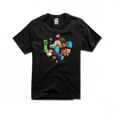 Minecraft Characters Cotton T-Shirt Game | IdolStore