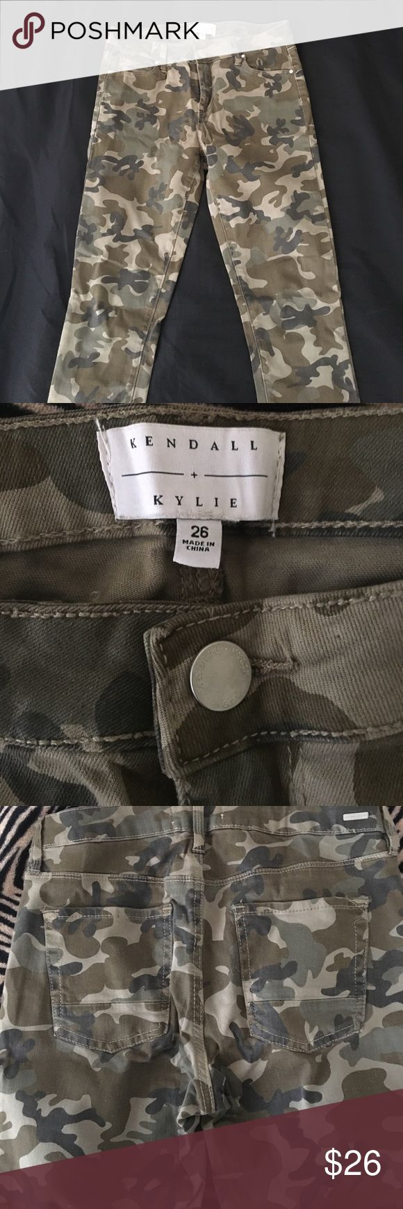 Kendall & Kylie Camo Skinny Jeans Kendall & Kylie Camo Skinny Jeans. Size 26. They were worn once before and now are too small 😪 cutest jeans ever!❤ Kendall & Kylie Pants Skinny
