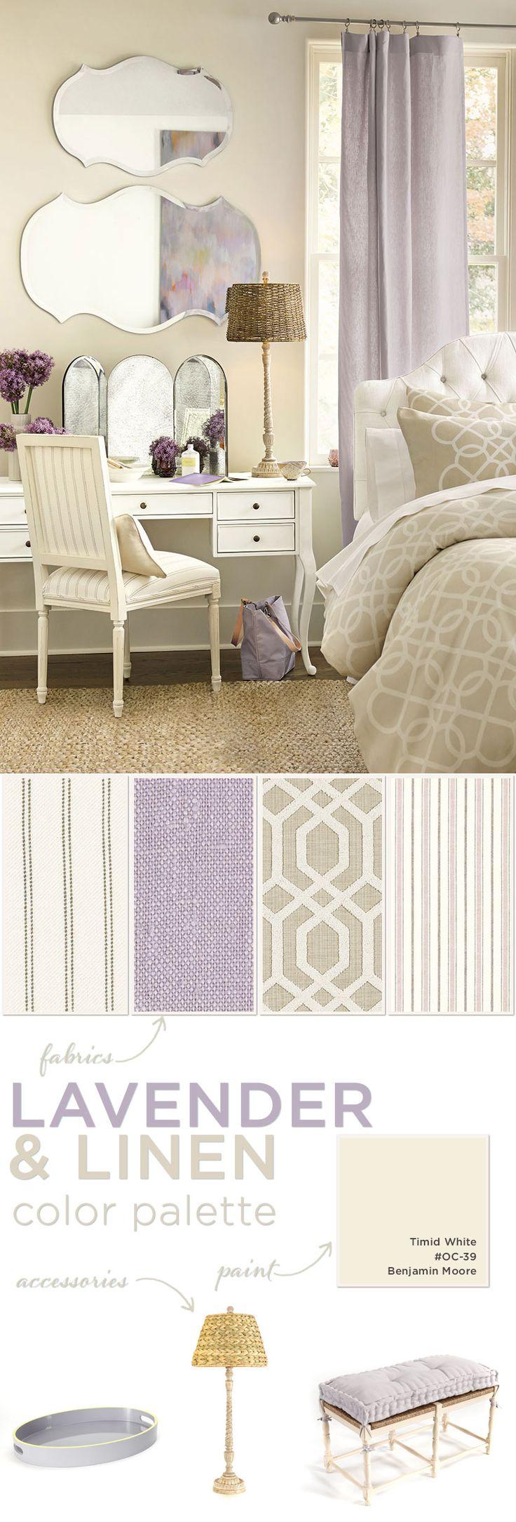 Lavender color palette for bedroom
