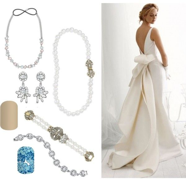 Vow Renewal by amlindseyjam on Polyvore featuring pearls, chloeandisabel, jamberrynails and #weddingwednesday