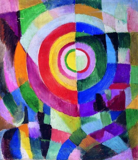 Sonia Delaunay Electric Prisms 1913 14 Centre National Des Arts Plastiques Paris France DelaunayRobert DelaunayArt
