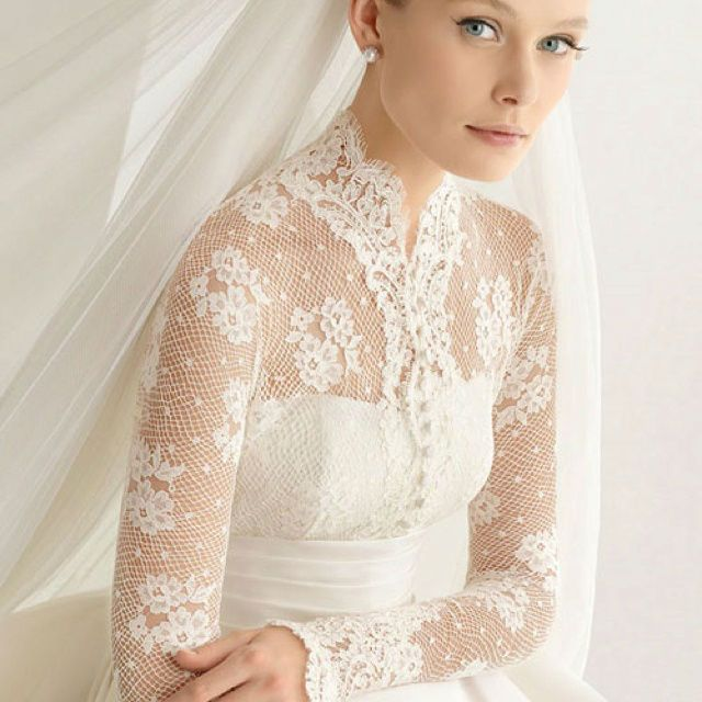 this is so stunning  Absolutely love! 47 Charming Long Sleeved Wedding Gowns