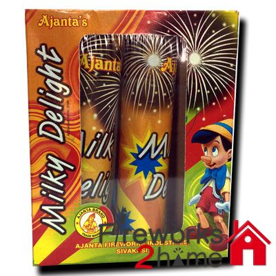 Buy online Milky Delight (Sky Shots) by Ajanta  -  Fireworks2home.com Ahmedebad   http://www.fireworks2home.com/